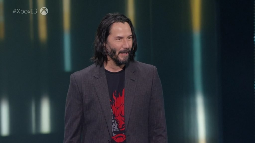 Keanu Reeves at E3 2019