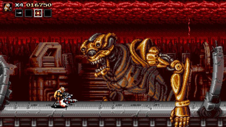 Hulking Alien Boss in Blazing Chrome