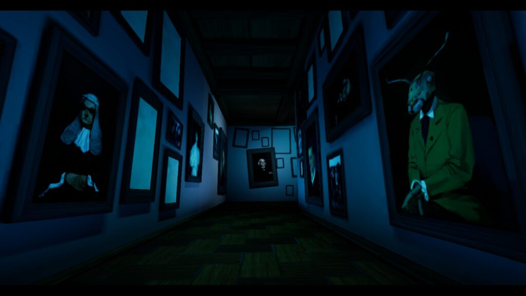 Metamorphosis Creepy Hallway Filled with Paintings