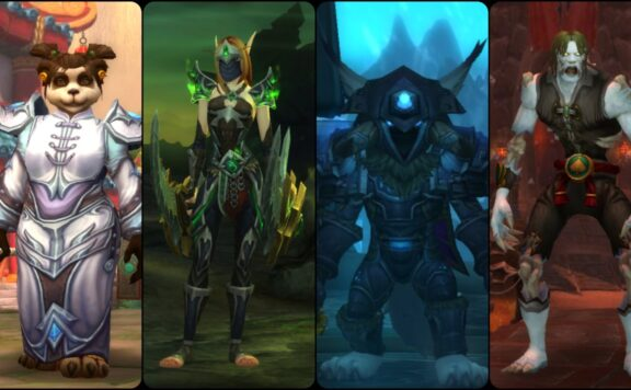 World of Warcraft Four Character Banner