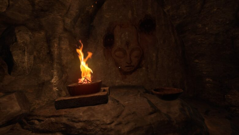 Cave Drawing in Amnesia Rebirth