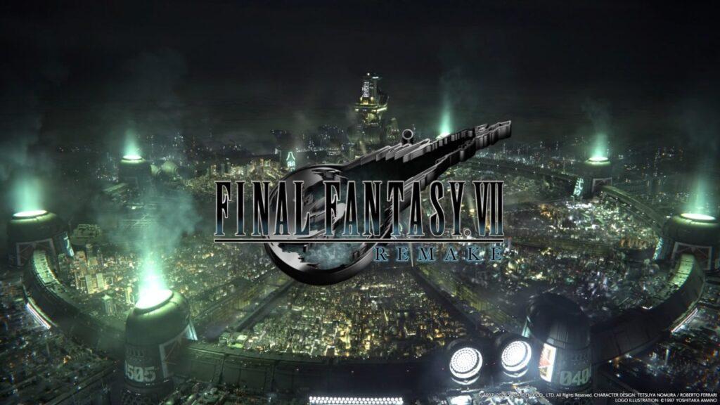 Final Fantasy VII Remake Title Screen