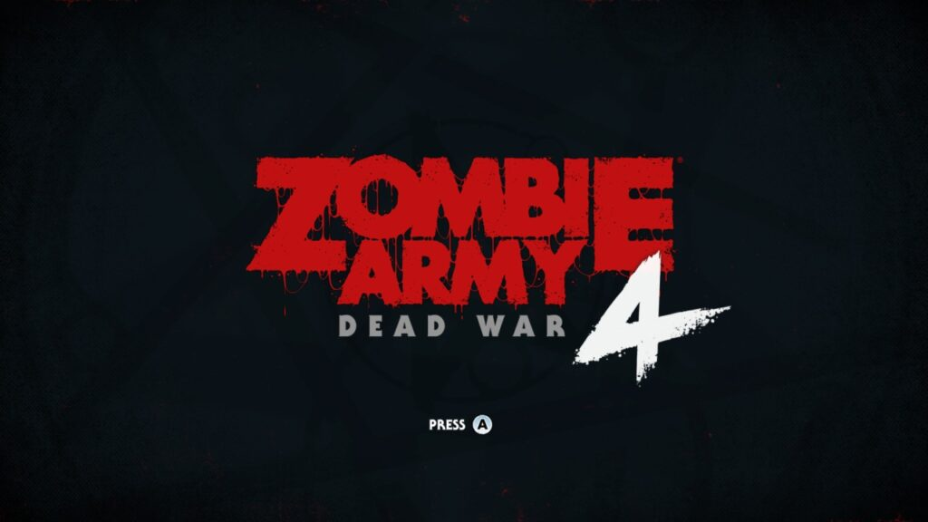 Zombie Army 4 Dead War Title Screen