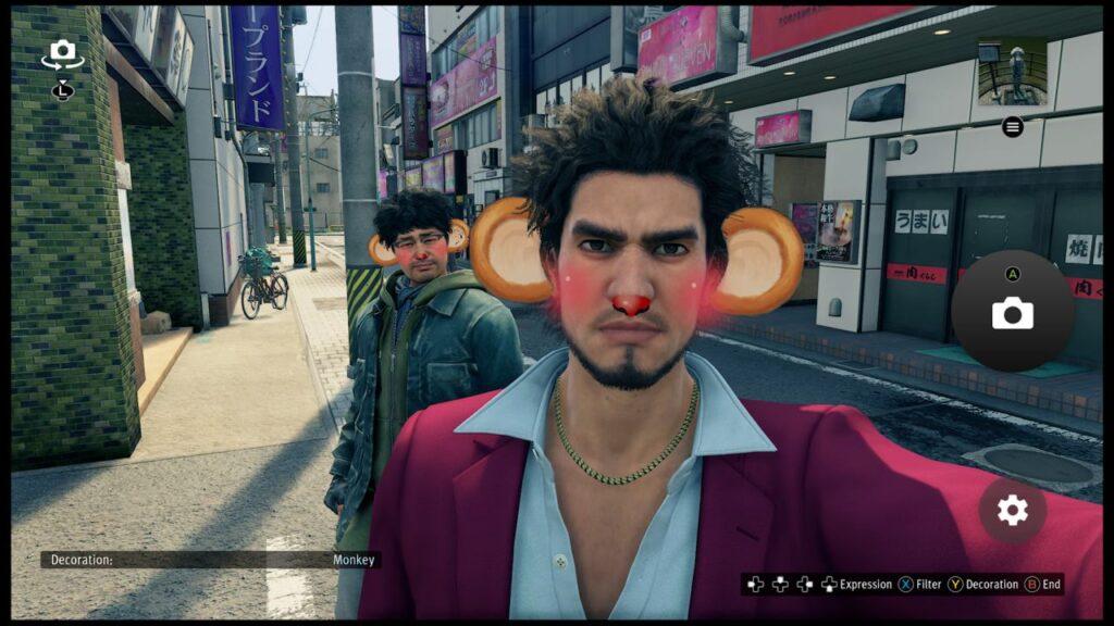 Yakuza Like a Dragon Kasuga and Nanba Selfie