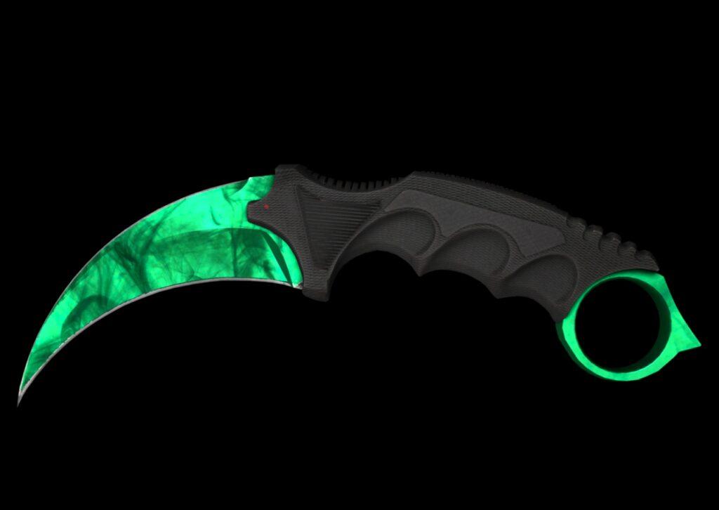 Gamma Doppler Emerald Karambit CSGO