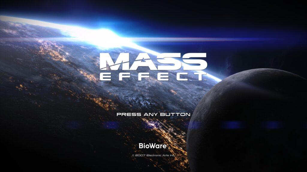 Mass Effect Title Screen