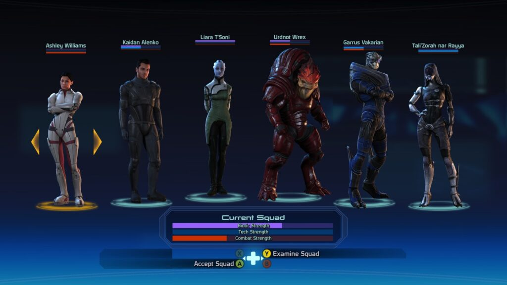 Every Party Member in Mass Effect